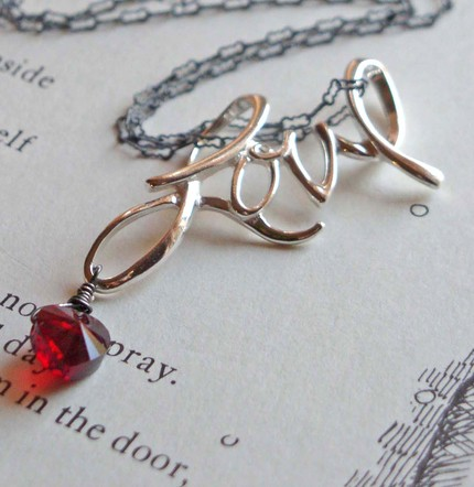 The Word Love Necklace