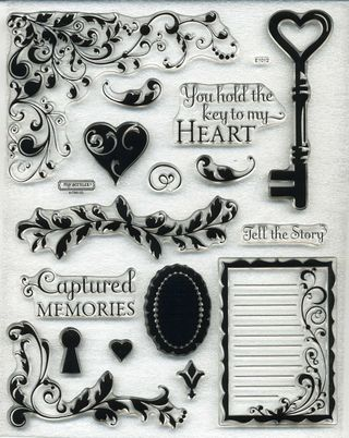 Key To My Heart Stamp Set from the CTMH January 2009 Promo