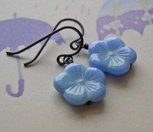 Blueflowerearrings