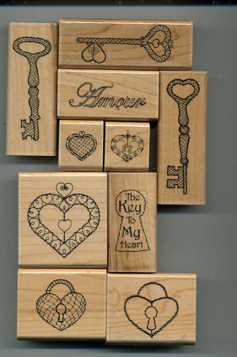 Key To My Heart - Close To My Heart - Used - Set of 10 - $10.00